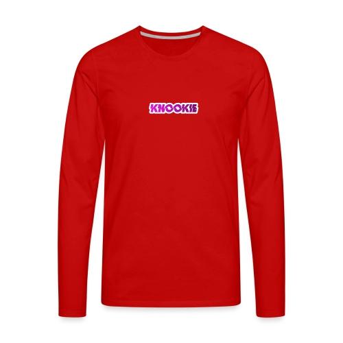 knookie smal logo - Mannen Premium shirt met lange mouwen