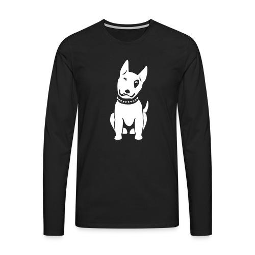Bullterrier comic - Männer Premium Langarmshirt