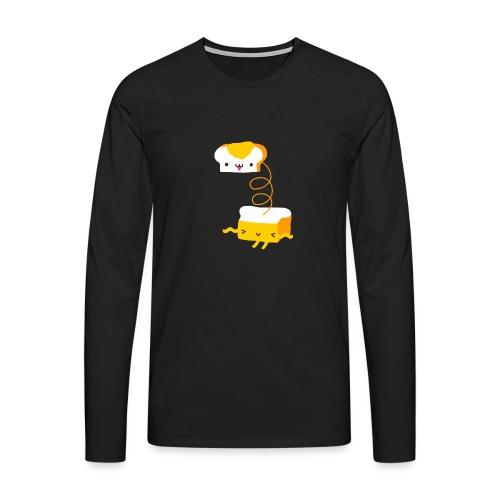 Cat sandwich gatto sandwich - Maglietta Premium a manica lunga da uomo