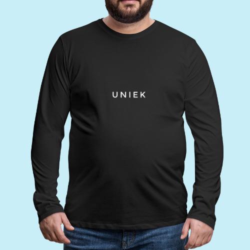 Uniek - T-shirt manches longues Premium Homme
