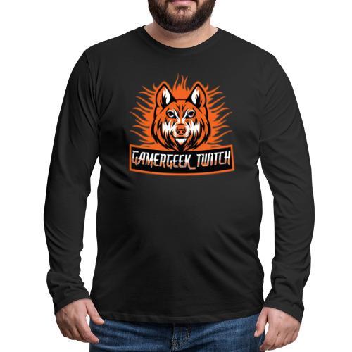 GamerGeek Logo XXXL - Männer Premium Langarmshirt