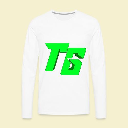 TristanGames logo merchandise [GROOT LOGO] - Mannen Premium shirt met lange mouwen