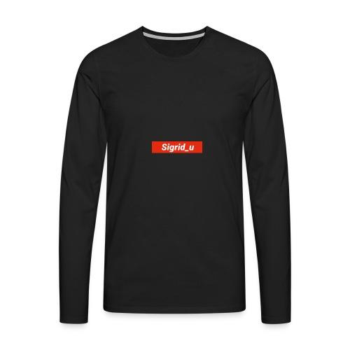 Sigrid_uBoxLogo - Premium langermet T-skjorte for menn