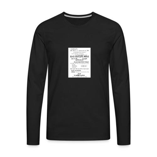 Beautiful Black Woman - Men's Premium Longsleeve Shirt