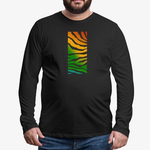 zebra - Långärmad premium-T-shirt herr