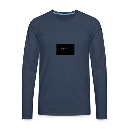 Gaiz - Maglietta Premium a manica lunga da uomo