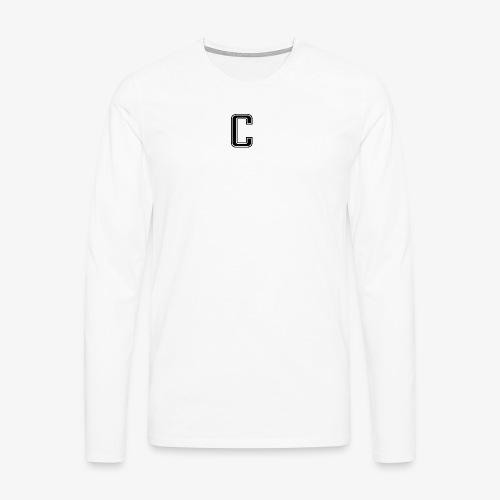 thiccc logo Black and White - Men's Premium Longsleeve Shirt