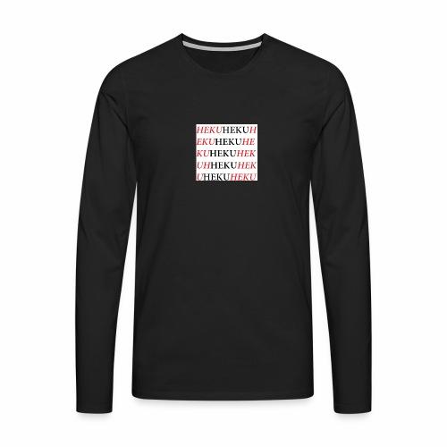 HekuHeku - Miesten premium pitkähihainen t-paita