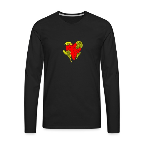 peeled heart (I saw) - Men's Premium Longsleeve Shirt