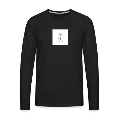 stick man t-shirt dance 1,0 - Herre premium T-shirt med lange ærmer