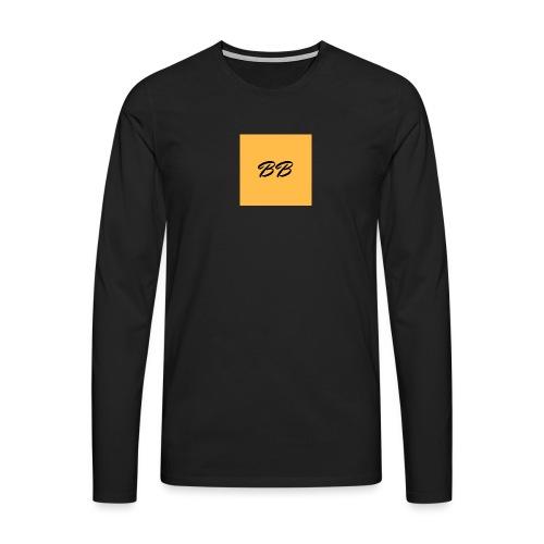 Logo - Herre premium T-shirt med lange ærmer