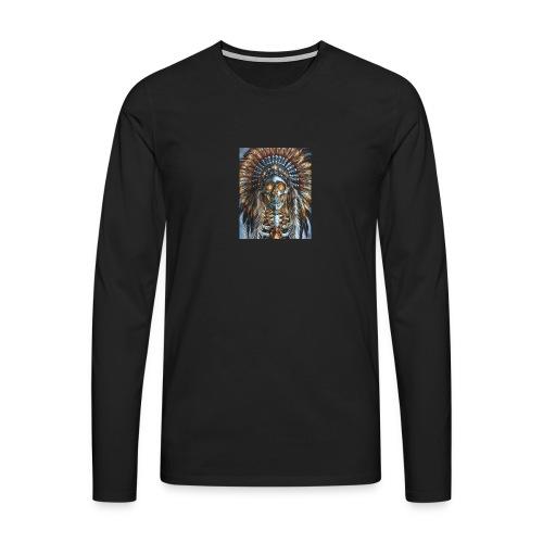 jefe indio - Camiseta de manga larga premium hombre