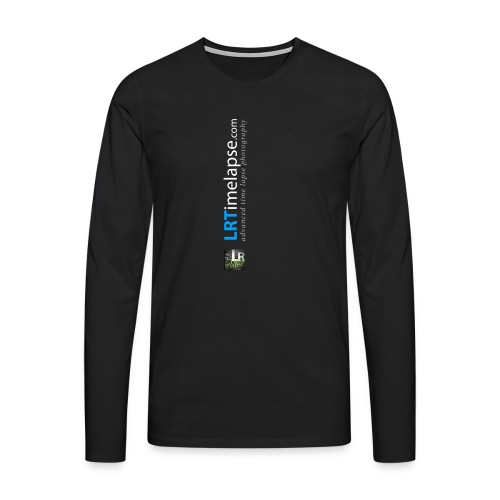 LRTImelapse Shirt Logo Vorne Hoch breiter3 png - Männer Premium Langarmshirt