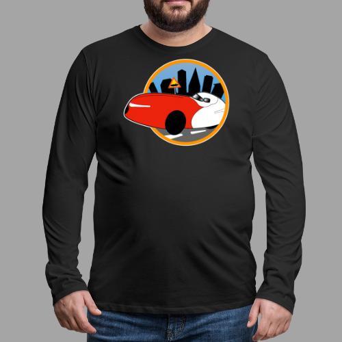 Velomobile-skyline - Miesten premium pitkähihainen t-paita