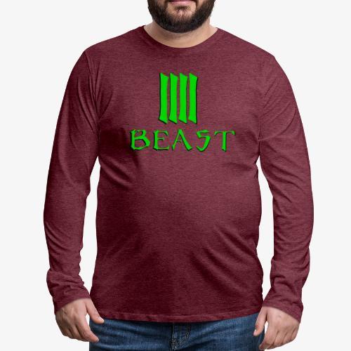 Beast Green - Men's Premium Longsleeve Shirt