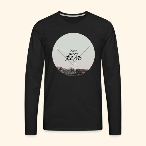 Eat, Sleep, Read - Långärmad premium-T-shirt herr
