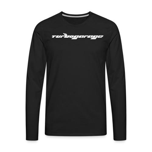 Turbogarage White - Männer Premium Langarmshirt