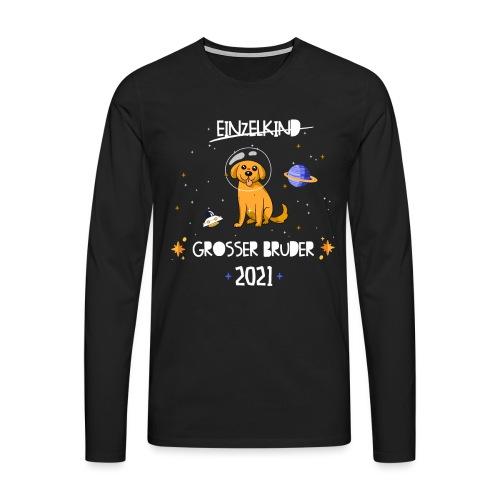 Großer Bruder 2021 Astronauten Hund Planeten - Männer Premium Langarmshirt