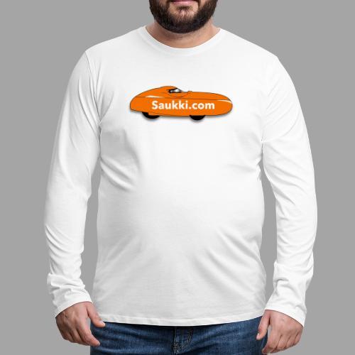 Saukki.com - Miesten premium pitkähihainen t-paita