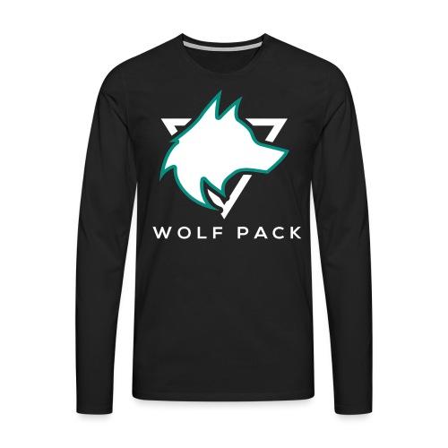 Wolf Pack Logo (NEW) - Men's Premium Longsleeve Shirt