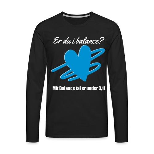 I Balance Design - Herre premium T-shirt med lange ærmer