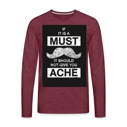 MUSTACHES 2 - Miesten premium pitkähihainen t-paita