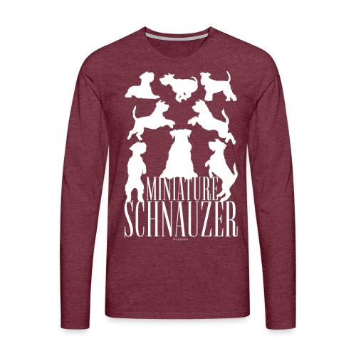 Miniature Schnauzer - Miesten premium pitkähihainen t-paita