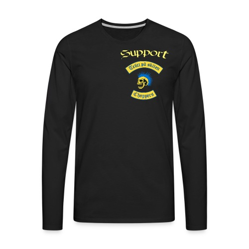 Supporter logga - Långärmad premium-T-shirt herr