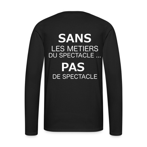 Metierspectacle png - T-shirt manches longues Premium Homme