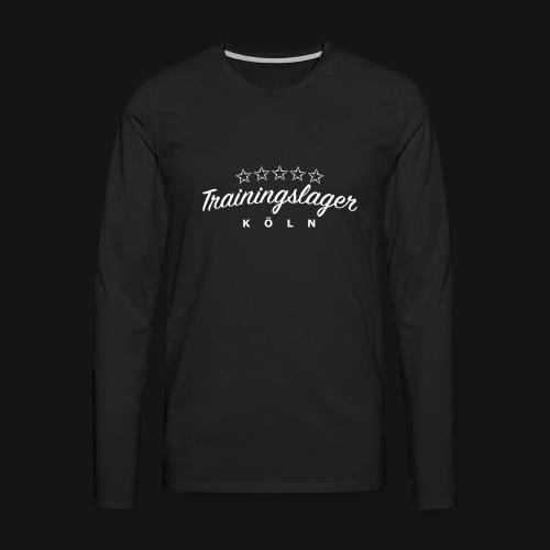 trainingslager font weiss gross png - Männer Premium Langarmshirt