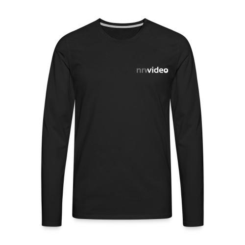nrwideo schwarz - Männer Premium Langarmshirt