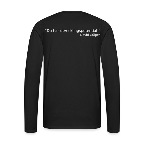 Ju jutsu kai förslag 1 version 1 vit text - Långärmad premium-T-shirt herr