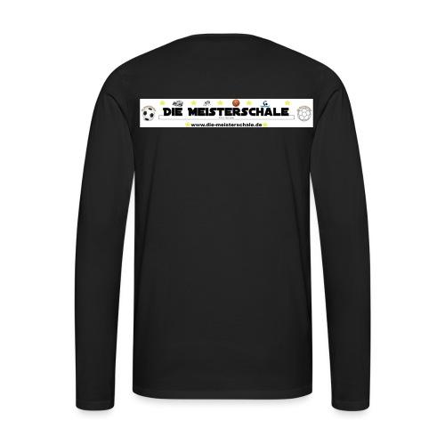 Die Meisterschale Logo Banner Werbung jpg - Männer Premium Langarmshirt