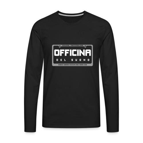 officinadelsuono plate - Maglietta Premium a manica lunga da uomo