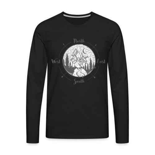 compass01 - Mannen Premium shirt met lange mouwen