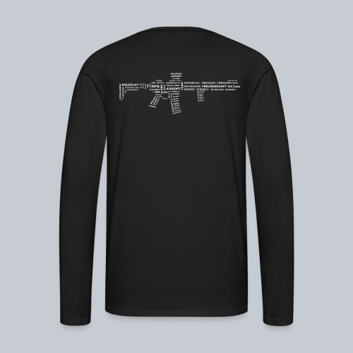 TXT RIFLE (White) - REAPERs Airsoft - Männer Premium Langarmshirt
