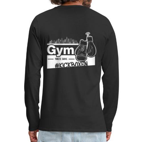 Gym Druckfarbe weiss - Männer Premium Langarmshirt