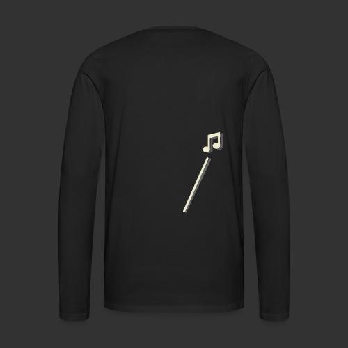 scheet muzieknoot - Mannen Premium shirt met lange mouwen