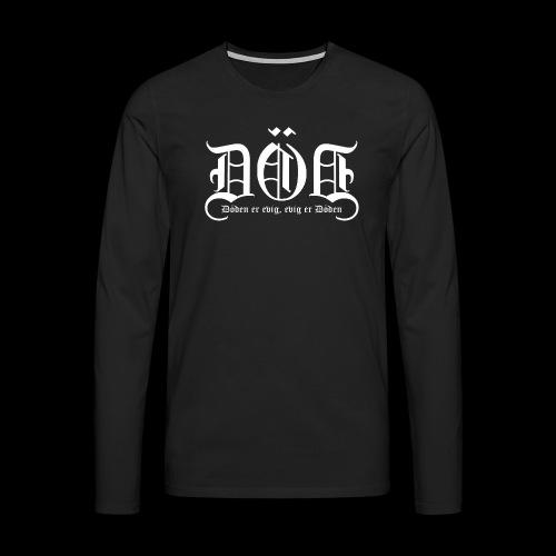 DOD LOGO Kvit skrift png - Premium langermet T-skjorte for menn