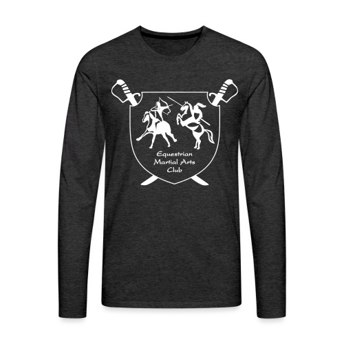 logo miekat vektorig - Miesten premium pitkähihainen t-paita