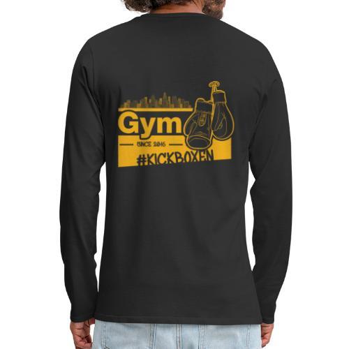 Gym Druckfarbe Orange - Männer Premium Langarmshirt