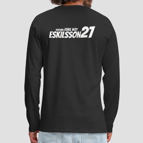 Eskilsson 27 sticker motive white - Långärmad premium-T-shirt herr