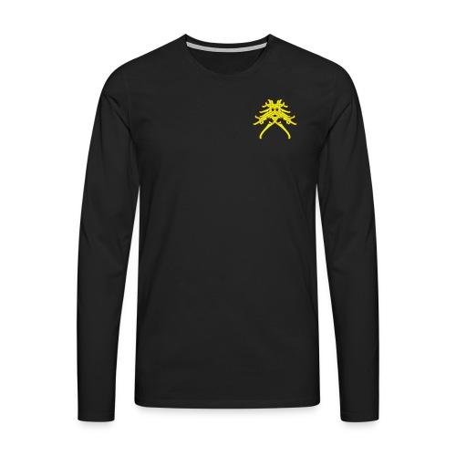Huskarlsgubbe 150x130mm - Långärmad premium-T-shirt herr