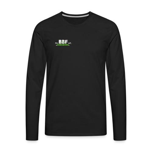 estd_logo leer_klein - Männer Premium Langarmshirt