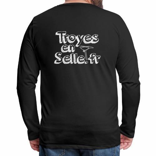logo Troyes en Selle - T-shirt manches longues Premium Homme