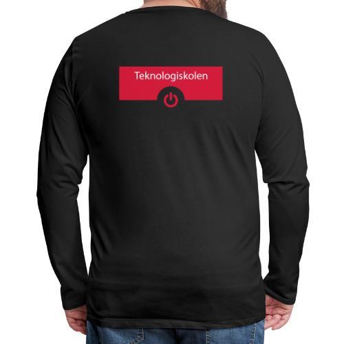 TeknologiskolenLogo - Herre premium T-shirt med lange ærmer