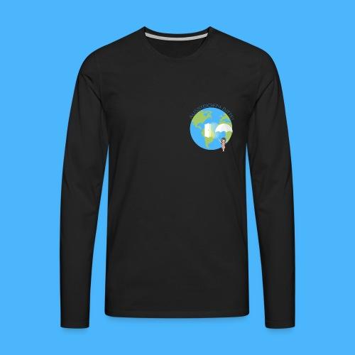 Logo Aussteigen Bitte - Männer Premium Langarmshirt