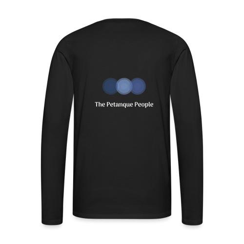 Petanque People Logo - Långärmad premium-T-shirt herr