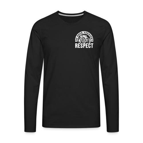 LOGO WIT DeBoerVerdientRespect png - Mannen Premium shirt met lange mouwen
