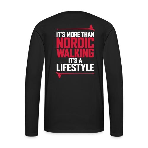 It's more than Nordic Walking - Miesten premium pitkähihainen t-paita
